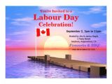 Dock Party Invitations Labour Day Party Canadian Flag On Dock 5×7 Paper