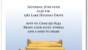 Dock Party Invitations Wood Boat Dock Party Invitations Swimming Invitations