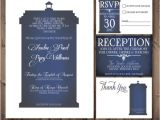 Doctor who Wedding Invitation Template Doctor who Tardis Wedding Invitation Set White Printable