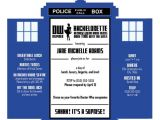 Doctor who Wedding Invitation Template Tardis Invitations