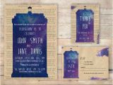 Doctor who Wedding Invitation Template This Version Includes Thank You Cards when Nerds Unite