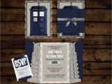 Doctor who Wedding Invites Custom Doctor who Wedding Invitation Suite Digital File
