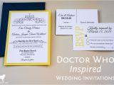 Doctor who Wedding Invites Doctor who Inspired Wedding Invitations Enchanted Type