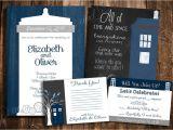 Doctor who Wedding Invites Doctor who Tardis Wedding Invitation Set Personalized
