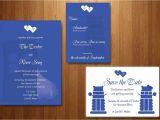 Doctor who Wedding Invites Doctor who Wedding Invitation Invitation Templates