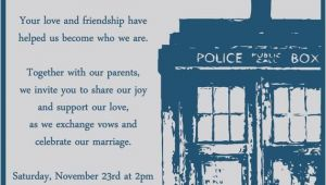 Doctor who Wedding Invites Doctor who Wedding Invitation