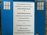 Doctor who Wedding Invites How We Made Our Tardis Invitations Lauren and Ric 39 S Wedding