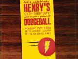 Dodgeball Birthday Party Invitations Dodgeball Invitations Set Of 12 by Polkaprints Cards