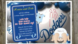 Dodger Baby Shower Invitations Printable Dodgers Baby Shower Invitations for A by