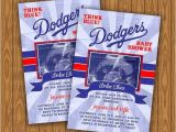 Dodger Party Invitations Dodgers Baby Shower Invitations All Star Diy by Jayarmada2