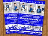 Dodger Party Invitations Dodgers Ticket Style Birthday Party Invitations by Jayarmada