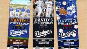 Dodger Party Invitations La Dodgers Birthday Party Invitation Ithinkparty On Artfire