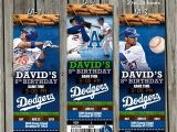 Dodger Party Invitations La Dodgers Invitation Baseball by Cardsjr On Etsy 3
