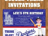 Dodger Party Invitations Los Angeles Dodgers Baseball theme Invitations by Jayarmada