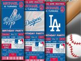 Dodger Party Invitations Los Angeles Dodgers Mlb Birthday Invitation Baseball by