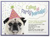 Dog Birthday Party Invitation Templates Dog Birthday Party Invitations Bagvania Invitations Ideas