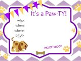 Dog Birthday Party Invitation Templates Puppy Party Ideas About A Mom