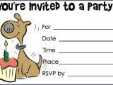 Dog Party Invitations Template Dog Birthday Invitations A Birthday Cake