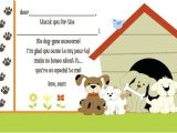 Dog Party Invitations Template Dog Party Invitations