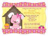 Dog Party Invitations Template Dog themed Birthday Party Invitations Dolanpedia