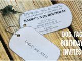Dog Tag Birthday Invitations Army Dog Tag Birthday Invitation Inspiration Made Simple