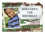Dog Tag Birthday Invitations Army Dog Tag Birthday Invitation