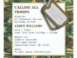 Dog Tag Birthday Invitations Camouflage Camo Birthday Party with Dog Tags Invitation