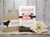 Dog Wedding Invitations Coral Wedding Invitation Set for Dog Lovers Pet Lover
