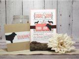Dog Wedding Invitations Coral Wedding Invitation Set for Dog Lovers Pet Lover