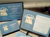 Dog Wedding Invitations Items Similar to Custom Puppy Dog Wedding Invitation Set