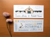 Dog Wedding Invitations Rustic Wedding Invitation Cat Loves Dog by thatnoisegallery