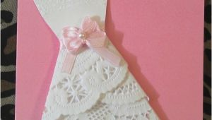 Doily Dress Bridal Shower Invitations Bridal Shower Wedding Invite Dress Doily by