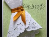 Doily Dress Bridal Shower Invitations Paper Doily Dress