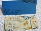 Dollar Tree Bridal Shower Invitations Coral Palm Trees & Sand Dollar Antique Boarding Pass