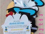 Donald Duck Baby Shower Invitations Donald Duck Head Invitation Cut File Baby Shower Party