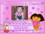 Dora Customized Birthday Invitations 4 Impressive Dora the Explorer Birthday Party Invitations