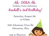 Dora Customized Birthday Invitations Dora Birthday Invitation