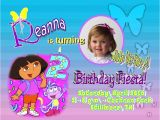 Dora Customized Birthday Invitations Dora Invitation Template Invitation Template