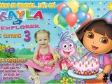 Dora Customized Birthday Invitations Dora the Explorer Personalized Birthday Invitation