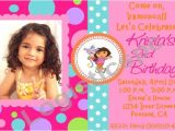 Dora Customized Birthday Invitations Free Dora the Explorer Birthday Invitations Template