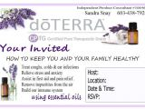 Doterra Party Invites Doterra Class Templates Google Search