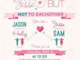 Double Bridal Shower Invitations Double Wedding Shower On Behance