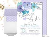 Double Bridal Shower Invitations Lavender Bridal Shower Invitations Floral Bridal Shower