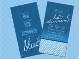 Double Bridal Shower Invitations something Blue Bridal Shower Invitations Double Sided
