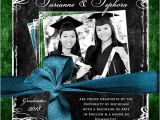 Double Graduation Party Invitations Double Graduation Photo Invitation Open House Sisters