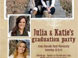 Double Graduation Party Invitations Graduation Announcements with Photos Double Sided Custom