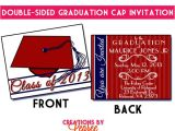 Double Sided Graduation Invitations 2013 Graduation Invitation Announcement Party Designs On