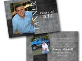 Double Sided Graduation Invitations Masculine Graduation Photo Invitations by Gwenmariedesigns