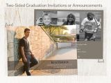Double Sided Graduation Invitations Two Sided Graduation Invitation or Announcement Add by
