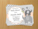 Download Free Baby Shower Invitations Editable Baby Shower Invitation Elephant Baby Shower